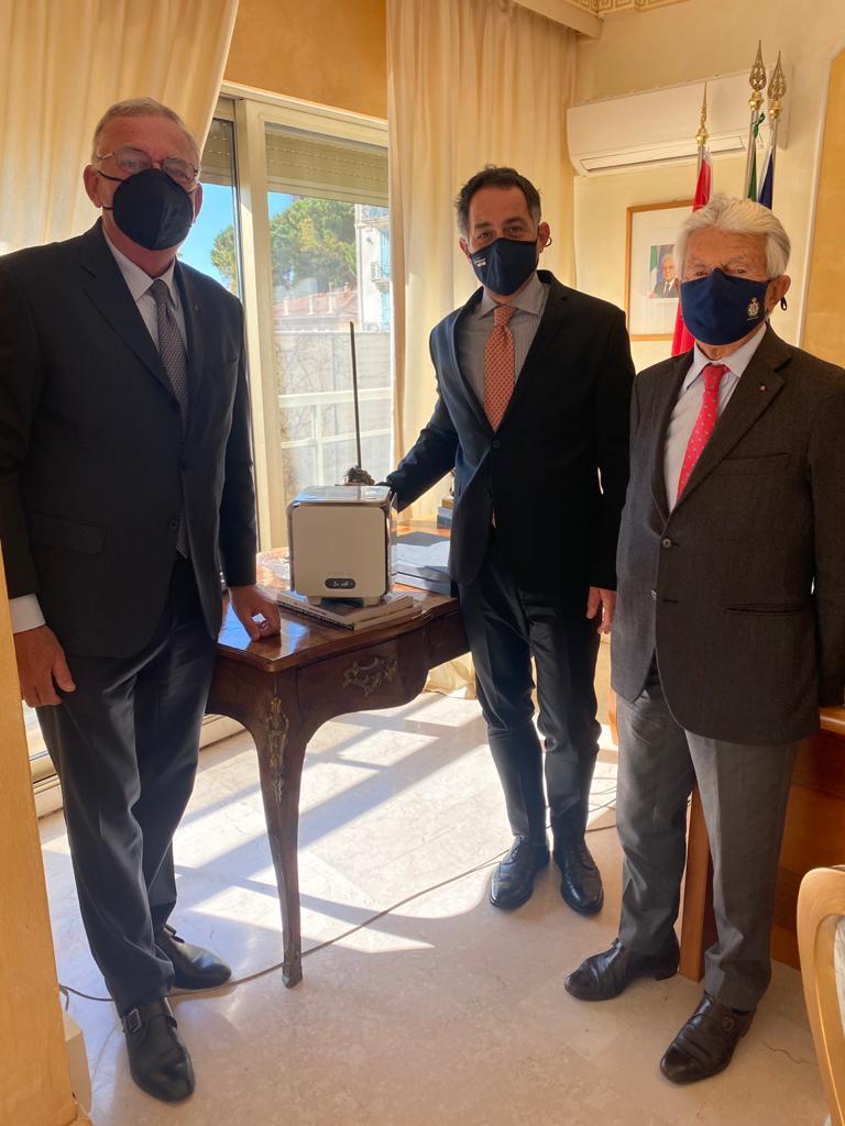 Ambasciata d'Italia nel Principato di Monaco e sanificatore anti-covid