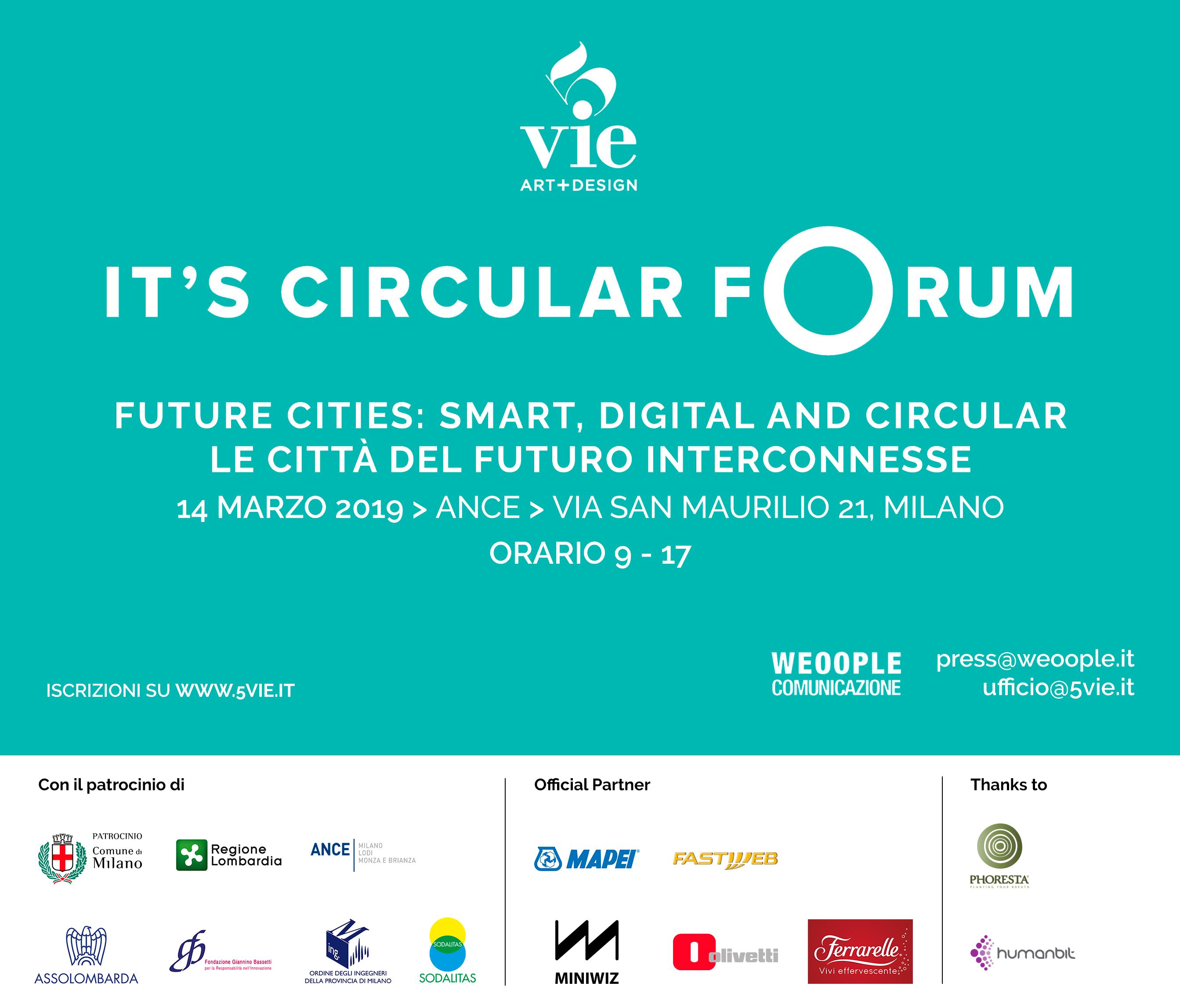 """""""It's Circular Forum"""" a Milano"""