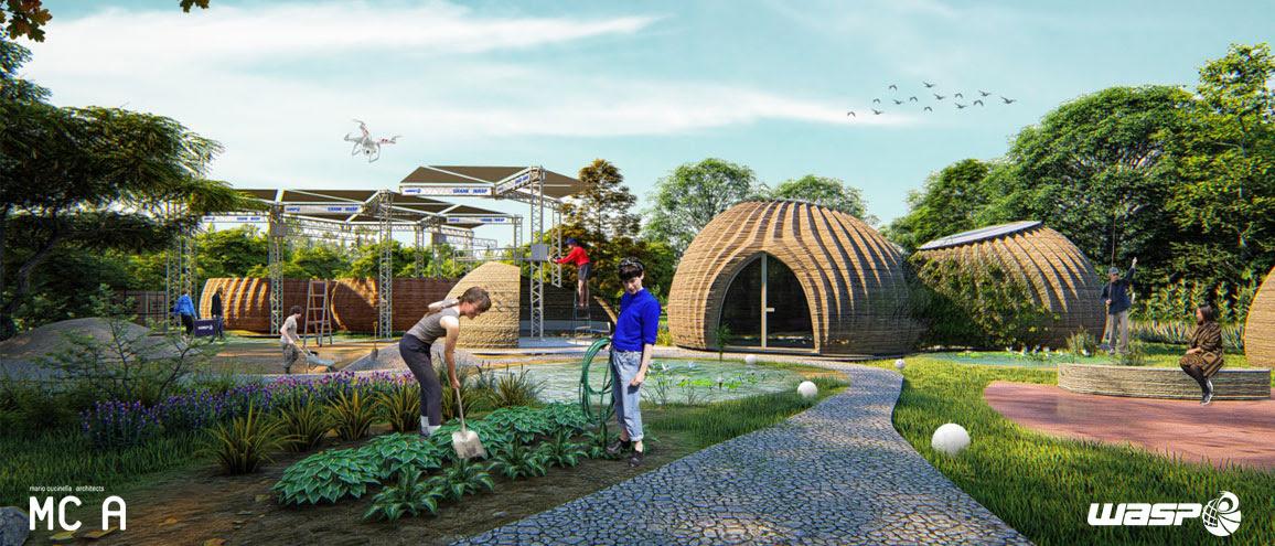 Un habitat eco-sostenibile stampato in 3D dalla visione di Mario Cucinella Architects e WASP