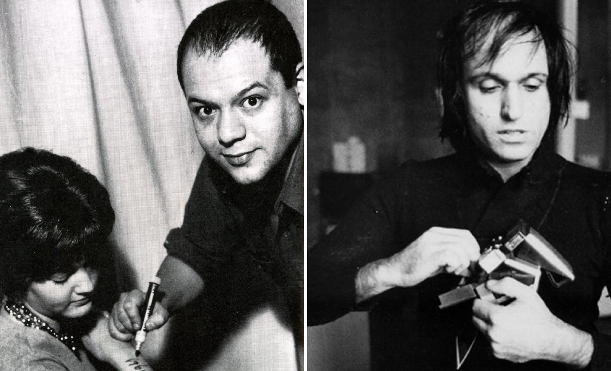 Piero Manzoni (foto a sinistra) e Mario Schifano (foto a destra)