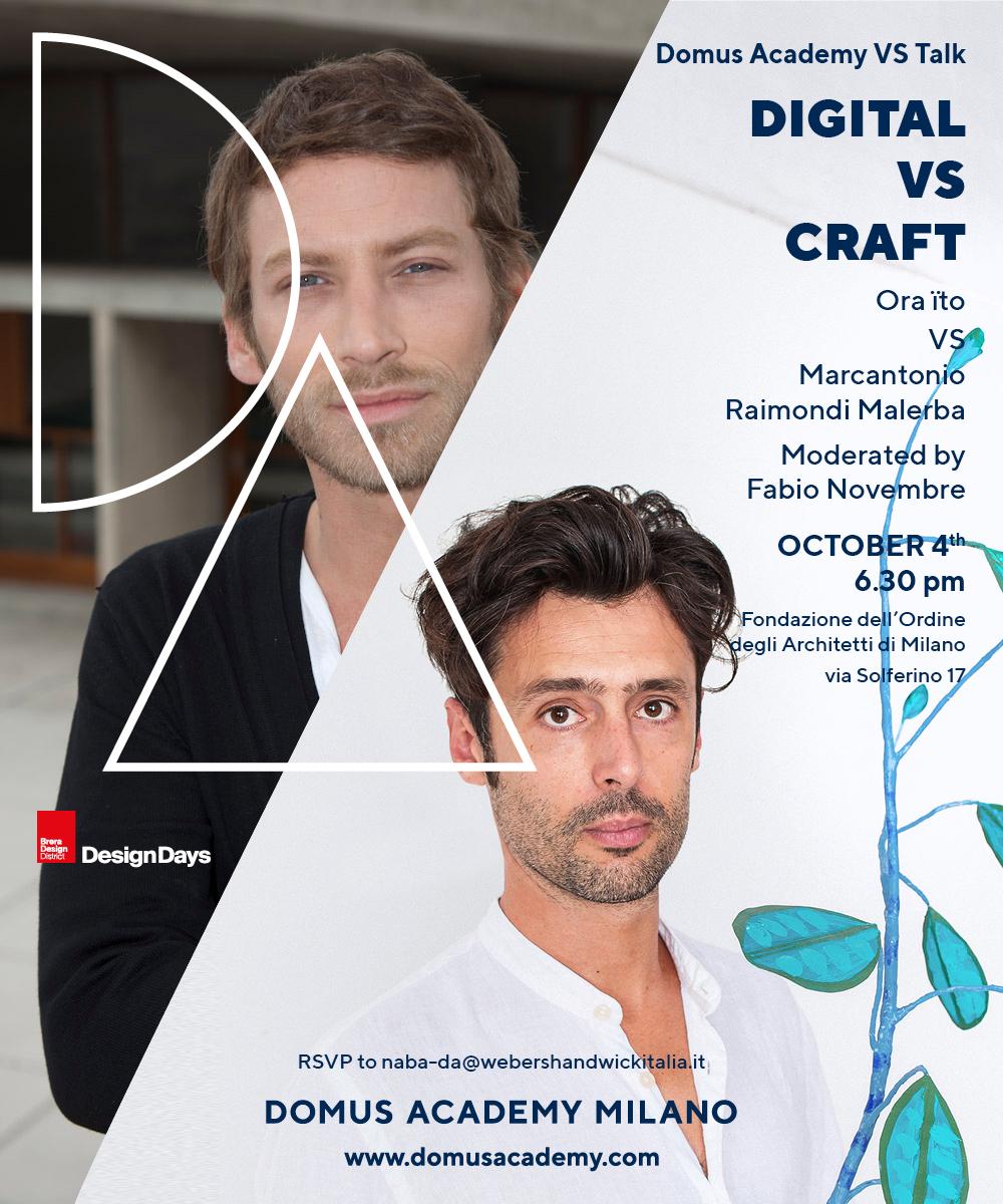 """Digital VS Crafts"" ai Brera Design Days"